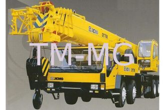 Durable QY100K-I Truck Crane , Hydraulic Mobile Crane With Embedded Block