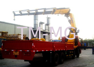 Durable 25 Tons Commercial Knuckle Boom Truck Mounted Crane, 19m Lifting Height